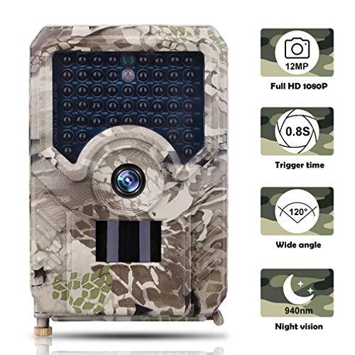Xegood Wildkamera 12MP 1080P mit 32 GB SD Card 49pcs 940 nm IR-LEDs 20m Nachtsicht,Auslösegeschwindigkeit 0,8 S Camouflage 32G
