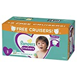 Diapers Size 5, 112 Count - Pampers Cruisers Disposable Baby Diapers, Enormous Pack, Plus Bonus Diapers