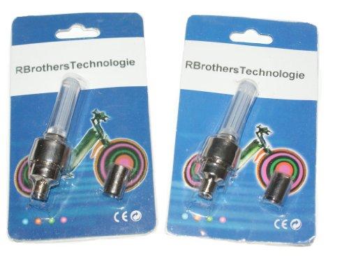 RBrothersTechnologie 2 Stück LED Ventilkappen Radbeleuchtung Licht Felgenlicht Tuning Auto BLAU - 3