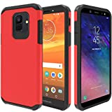 ATUS Galaxy A6 Case, Full Cover Tempered Glass Screen Protector, Hybrid Dual Layer Protective TPU Case for Samsung Galaxy A6 2018 (Black/Black)