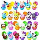 Harxin Marionette da Dita Uova di Pasqua, 24pz Burattini con Le Mani Set Burattini Animali Giocattoli Bambole sveglie,Ideali per Bambini,scuole, spettacoli, Ricreazione, Festa di Compleanno,Pasqua