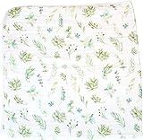ADDISON BELLE Baby Blanket – 100% Organic Cotton Toddler Blanket – Premium 4-Layer Muslin Blanket – Gender Neutral Dream Blankets – Lightweight/ Oversized (47' x 47') – Succulents Print