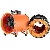 VEVOR Extractor Ventilador Industrial Portátil 300 mm, Ventilador Profesional para Construcción 520W, Ventilador de Piso...