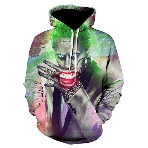 Suicide Squad Jacke Joker Harley Quinn 3D-Print Sweatshirt Männer Frauen lustige Hoodies Streetwear Harajuku Halloween Pullover