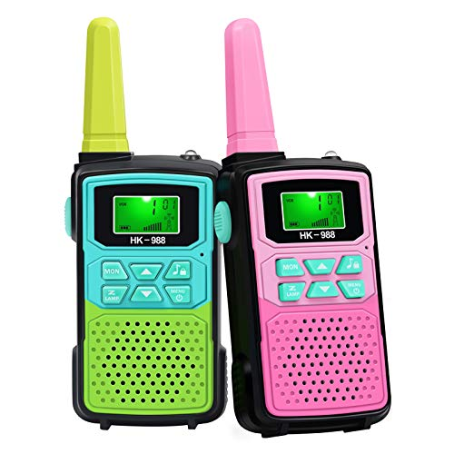 Walkie Talkies for Kids Toys, Radio Toy for Indoor Outdoor Games, 22 Channels 2 Way Radio Toy 3 KM Long Range with Backlit LCD Flashlight, Best Gifts for 3-12 Year Old to Outside Adventures