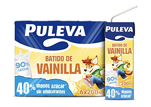 Puleva Batido de Vainilla - Pack de 6 x 200 ml - Total: 1200 ml