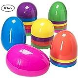 PREXTEX Huevos de Pascua de Surtidos Surtidos Jumbo 17,8 cm - Pack de 12 ud