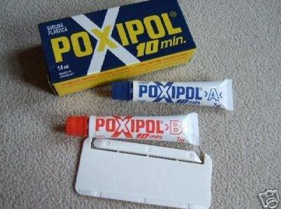 Pegamento de 2 componentes/resina epoxi – Dureza de metal Poxipol (2 unidades)