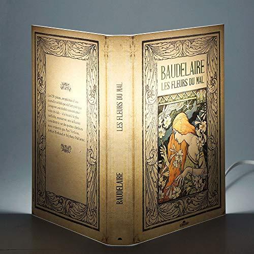 Abat Book Lamps - Lámpara de mesa, multicolor