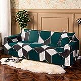WXQY Funda de sofá elástica para Sala de Estar, Funda de sofá Antideslizante con Todo Incluido, protección para Mascotas, Funda de sofá elástica, combinación A11, 3 plazas