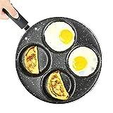 DAGUAI Omeletpfanne mit vier Löchern, für Eier, Schinken, Pfannkuchen, Pfannkuchen,...