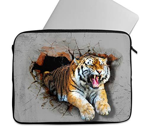 """Siberian Tiger Art - Custodia per computer portatile, 10"""", 11"""", 12"""", 13"""", 14"""", 15"""", 15,6"""", 15,6"""", 15,6"""", universale, resistente agli urti, impermeabile, di qualità, durevole (12-13"""")"""