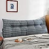 Cojín de cuña con respaldo triangular, grande, extraíble para cabecero, respaldo, doble tatami, soporte de posicionamiento, almohada de lectura, cojín desmontable