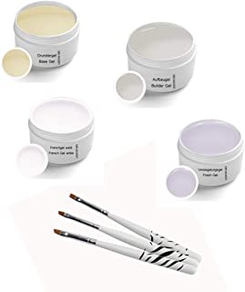 Sun Garden Nails - UV Classic Gel Set (4 x 5 ml), inklusive penselset