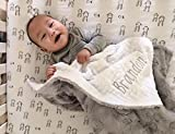 Gray Hide baby Blanket, Customized baby blanket, Newborn gift, Baby Decor, Baby Shower Gift, Nursery Crib