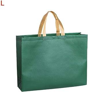 SXCYU Wiederverwendbare Damen-Einkaufstasche Große Kapazität Reisetasche aus Segeltuch Robuste Damen-Handtasche Einkaufstasche aus Segeltuch Eco Bag, dunkelgrün, L