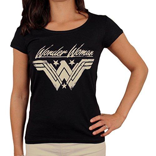 Wonder Woman - Camiseta para mujer, diseño con logotipo de Grunge