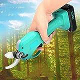 KKTECT Cesoie elettriche da potatura Diametro di Taglio 0-30 mm Tagliabordi per Alberi da Frutta da Giardino per steli di Alberi da Giardino Adatte per Rami/Cespugli/Frutteti, con 2 batterie