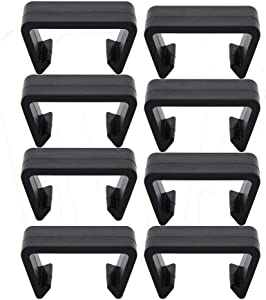 O'lemon 8 Pack Rattan Furniture Clips,Outdoor Patio Wicker Furniture Alignment Sofa Rattan Chair Sofa Fasteners Clip Sectional Connector (3-3.5 INCH Large, C15)