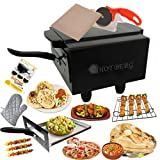 HOTBERG Small Electric Tandoor with Pizza Cutter, Magic Cloth, Aluminium Tray, Shock Proof Rubber Legs and Recipe Book