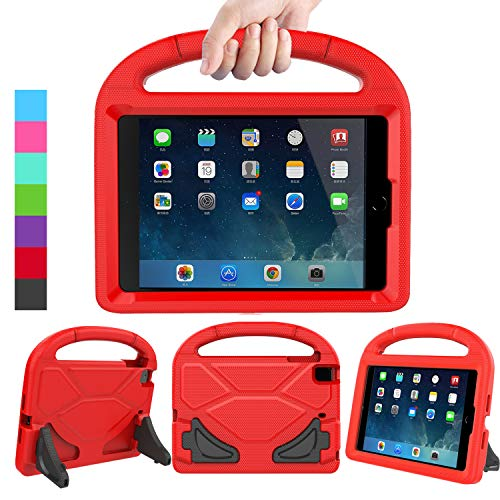 LEDNICEKER Kids Case for iPad Mini 1 2 3 4 5 - Light Weight Shock Proof Handle Friendly Convertible Stand Kids Case for iPad Mini, Mini 5 (2019), Mini 4, iPad Mini 3rd Gen, Mini 2 -Red