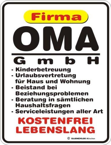 Rahmenlos 3264 Schild: Oma GmbH