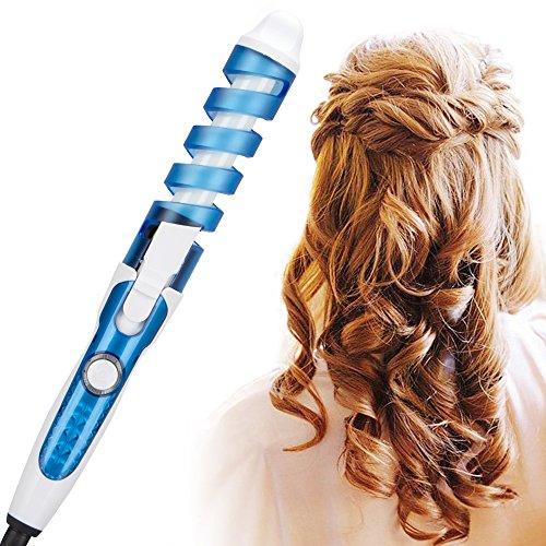 Hpybest profesional rizador de pelo mágico espiral rizador rápido calentamiento curling varita eléctrica pelo styler pro styling herramienta