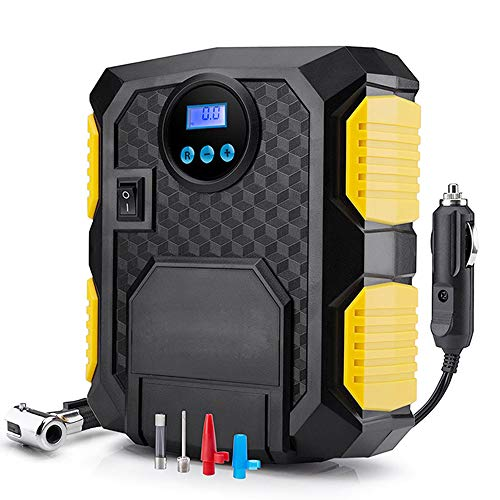 Digital neumático del DC de 12 voltios portátil coche bomba compresora de aire de 150 PSI compresor de aire para las bicicletas de coches Motocicletas