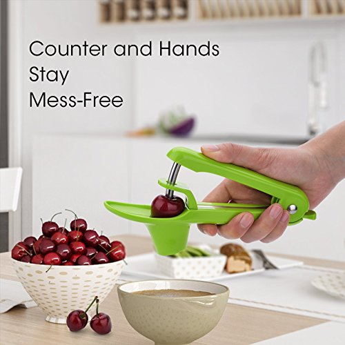 [-SALE-] Cherry/Olive Pitter Tool, Cherry/Olive Pit Remover/Corer (Green)