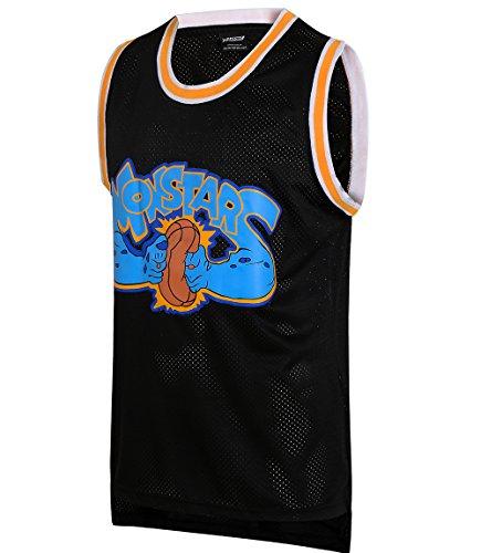 JOLI SPORT Monstars 0 Space Movie Jersey Men's Basketball Jersey S-XXXL Black (Small)