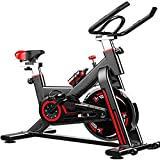 HYDT Exercise Bike Exercise Bike Indoor Cycling Bicycle Stationary Bikes Cardio Workout Machine Upright Bike Belt Drive Home Gym