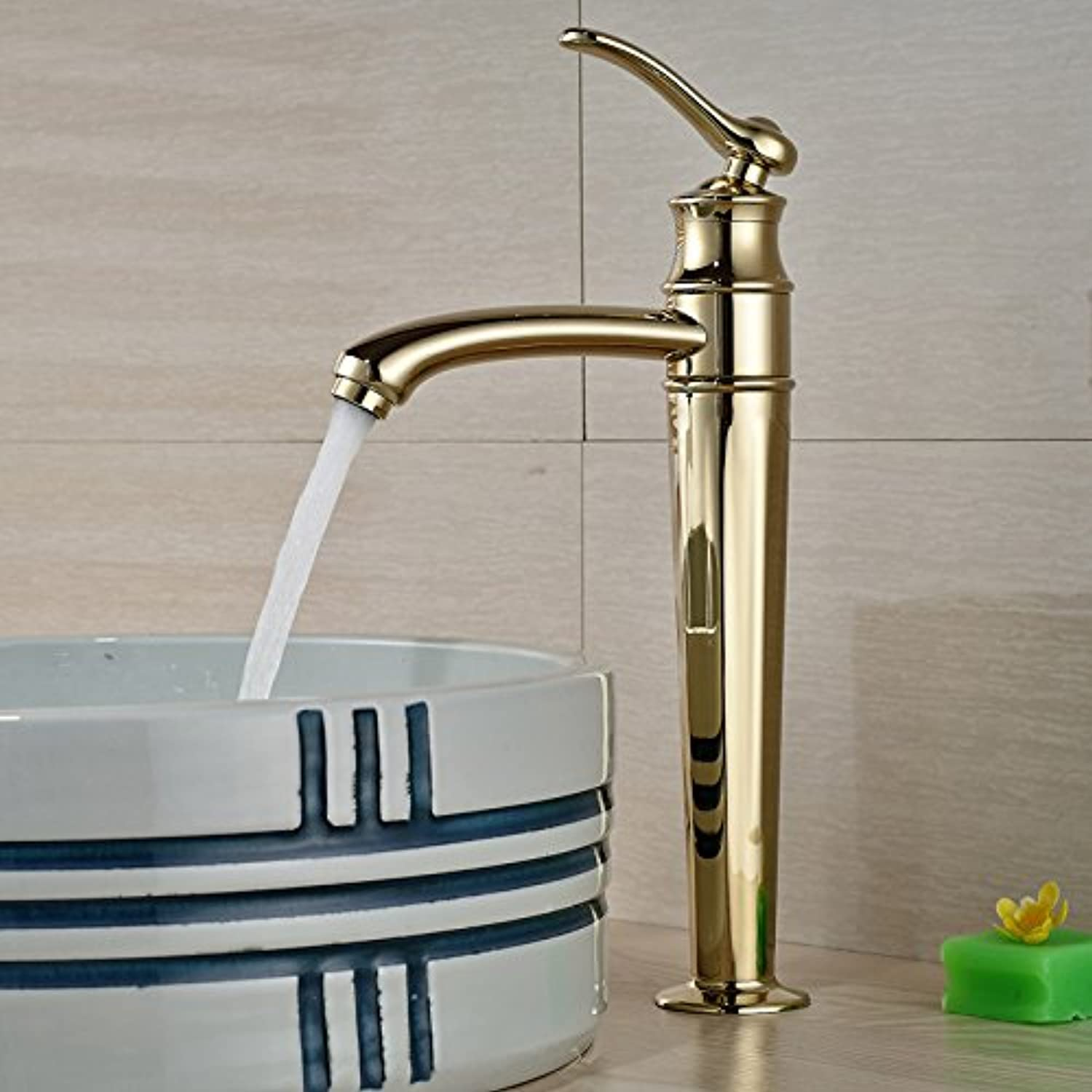 Maifeini New Single Container Handling Basin Sink Mixer Deck To Install A Copper gold Basin Faucet