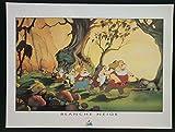 Disney Poster - (Schneewittchen 3) - Retro Art Kunstdruck -