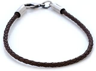 2mm (0.08 inch) Brown Braided Bracelet (CA12 Brown) Tribal Street Jewelry