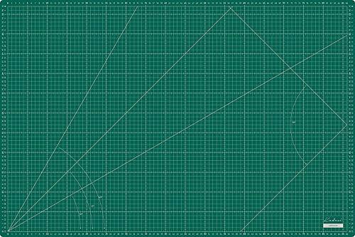 Base de corte grande 90x60 cm milimetrada en CENTÍMETROS y PULGADAS, auto cicatrizante de alta calidad- Kadusi