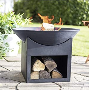 Kasu Large Steel La Hacienda Steel Fire bowl Durable cast iron construction by La Haciends