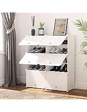 Portable Schuhablage Organizer Tower, weiß, modulare Schrankregal für platzsparende, Schuhregal Regale für Schuhe, Stiefel, Hausschuhe 2 * 5