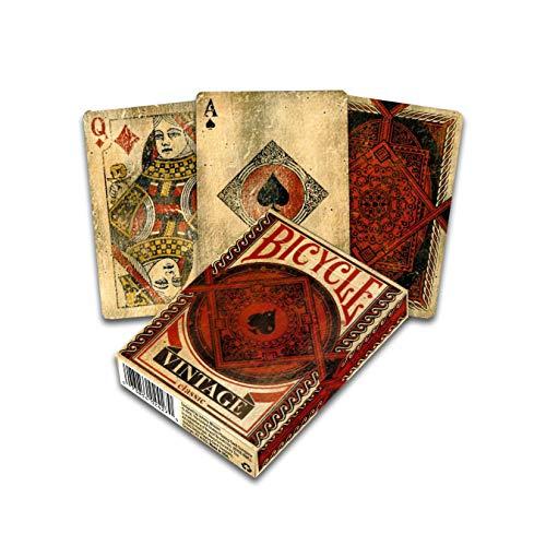 Fournier 1040828 Bicycle Vintage Kartenspiel für Sammler, Schwarz und Rot