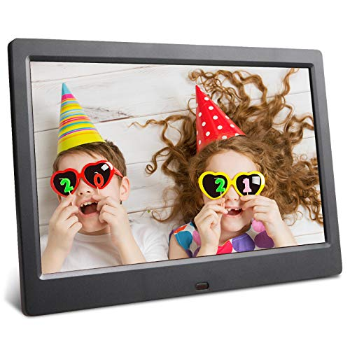 Digital Picture Frame 10.1 inch Photo Frame Video Music Player Support USB SD with Upgraded Remote Controller Gift Packaging