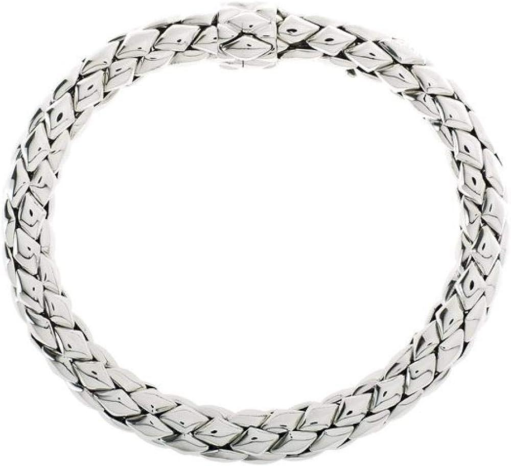 Chimento,bracciale semirigido per donna,in oro bianco 18 kt(32 gr) della collezione stretch 1B00805ZZ5200