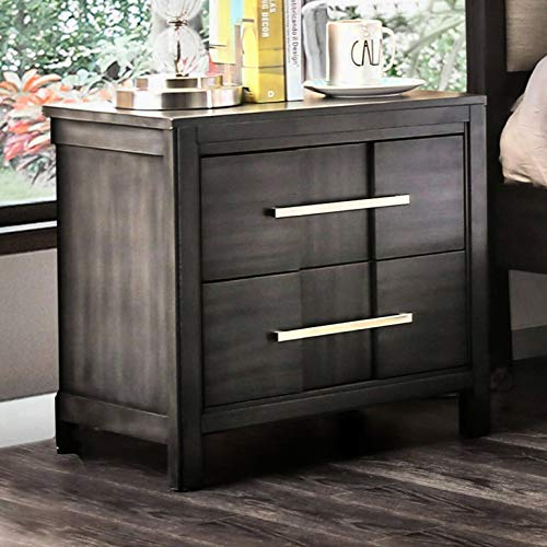 Midwest 2 - Drawer Nightstand, Number of Drawers: 2, Frame Material: Solid + Manufactured Wood