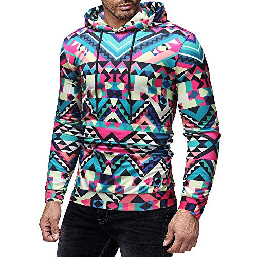 DNOQN Sportshirt Herren T Shirt Topshop Poloshirt Männer Beiläufig Herbst Winter 3D Druck Langarm Hoodies Sweatshirt Bluse XXXL