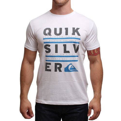 Quiksilver Basic T-Shirt Manches Courtes Homme Blanc FR : XL (Taille Fabricant : XL)