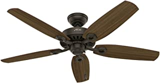 Hunter Indoor Ceiling Fan, with pull chain control - Builder Elite 52 inch, New Bronze, 53242