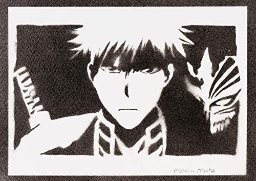 Poster Bleach Ichigo Kurosaki Grafiti Hecho a Mano - Handmade Street Art - Artwork