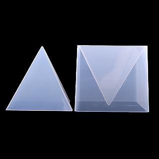 Kuizhiren1 Molde de silicona para fondant DIY 60 mm 20 mm molde de silicona con forma de pir/ámide para hacer joyas de resina y resina para manualidades