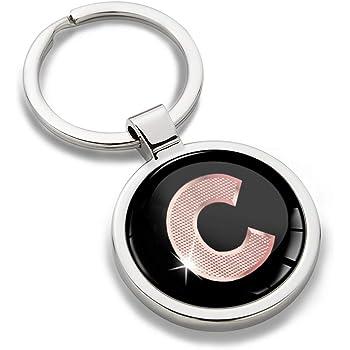 Porte-cl/é Lettres A-Z Initiales Personnalisable de lalphabet Accessoires Homme Femme Cadeau Lettre T Argent KK 98