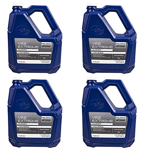 Polaris Genuine OEM 1 Case of 4 Gallons of Snowmobile VES Race Synthetic 2-stroke Engine Oil 2883732