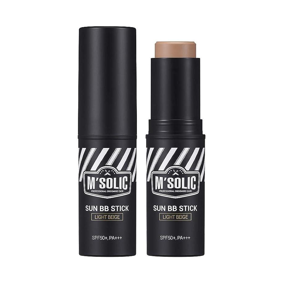 陪審北西中傷【SNP公式】 M'SOLIC サン BBスティック/M'SOLIC SUN BB STICK_ LIGHT BEIGE メンズ 韓国コスメ BBスティック サンブロック トーンアップ 男性 スキンケア グルーミング