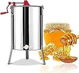 JZTOL Manual Money Separador Extractor Separador Honeycomb Spinner Guanado con Tambor De Acero Inoxidable For Equipos De Centrífuga De La Extracción De Apicultura (4 Marco)